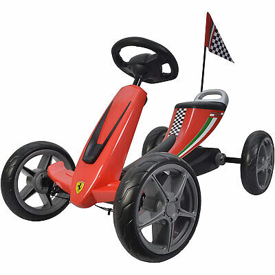 Best Ride On Cars Kids Ferrari Pedal Go Kart Riding Toy Vehicle (Open Box)