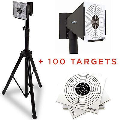 Nitehawk Air Rifle Airsoft Pistol Shooting Target Stand Holder + 100 Targets