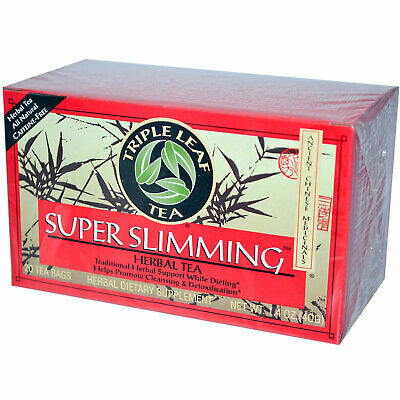 Triple Leaf Tea Super Slimming Herbal Tea - 20 Tea Bags Chinese Herbal Slimming Tea