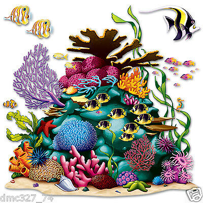 Under The Sea Party (UNDER THE SEA Ocean Tropical Luau Party Decoration CORAL REEF Wall ADD ON)