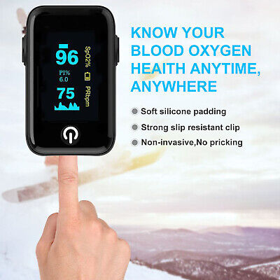 Led Finger Tip Pulse Oximeter Blood Oxygen Meter Heart Rate Monitor Saturation