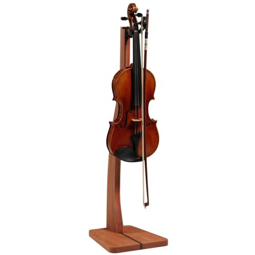 Zither Wooden Violin Stand Mahogany - Handcrafted Premium Hardwood Made in USA