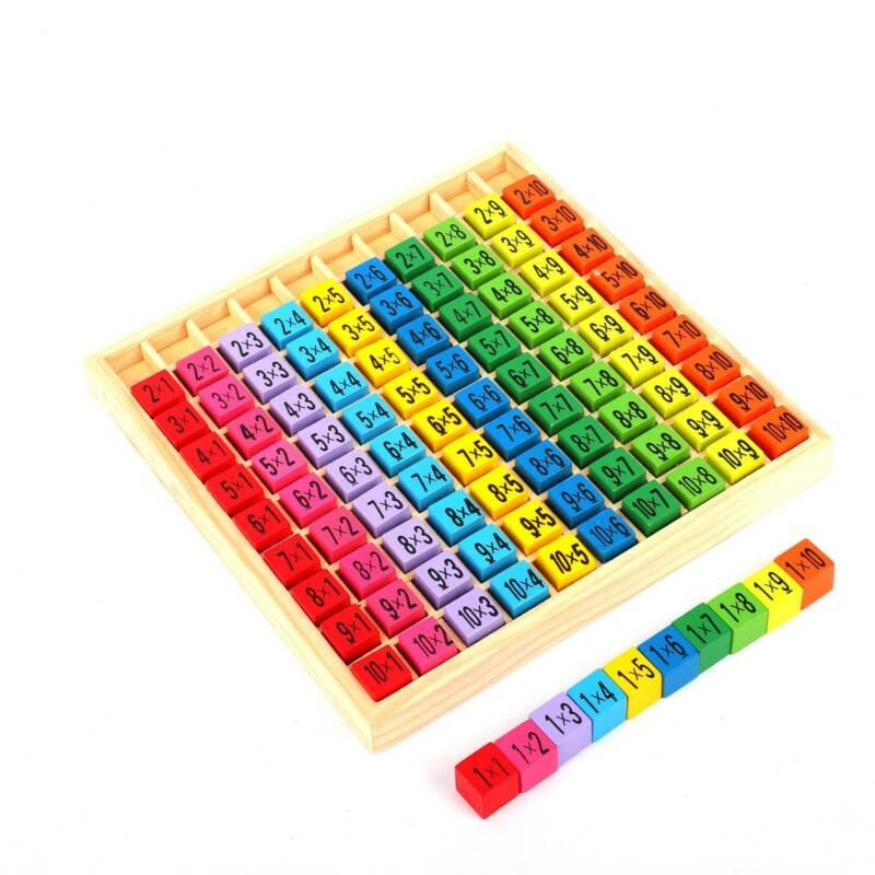 Kinder Montessori Spielzeug Einmaleins Mathematik Lernspiel Geschenk Naturholz