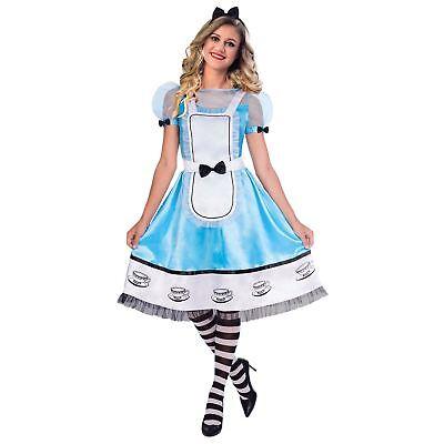 Alice Muster Kostüm Outfit für Damen Wunderland Kostüm - Wunderland Outfit