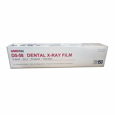 Dental Umg Ds-58 Size 2 D Speed Adult X-ray Film 150box Vinyl Packing