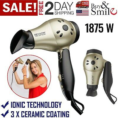 Revlon Ionic Dryer Professional Travel Turbo Blower Compact 2 Velocidades 1875W