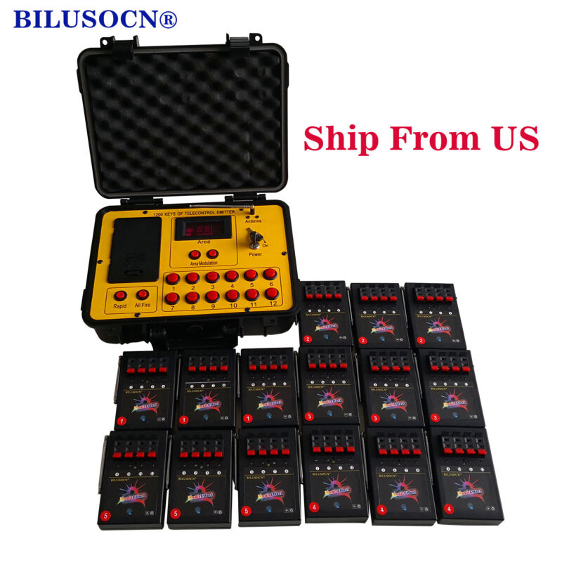 Free ship 60 cues 500M distance program fireworks firing system wireless control
