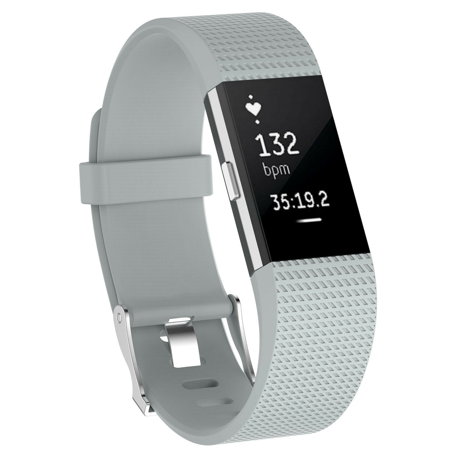 For Fitbit Charge 2 /  2 HR Replacement Silicone Bracelet Watch Band Gray
