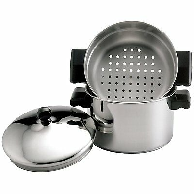 Farberware Stainless Steel Classic Cookware - Farberware Classic Stainless Steel 3-Quart Covered Saucepot and Steamer