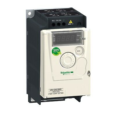 Schneider Elect Variable Speed Drive Atv12h018m2 .25hp .18kw 200-230v New