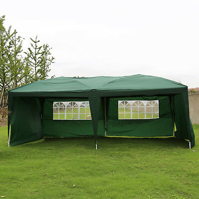 Kinbor 10'x20' Canopy Wedding Tent Party Garden Outdoor Heavy Duty Gazebo, Green