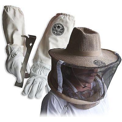 Cotton Sheepskin Beekeeping Medium Gloves W Vail J-hook Tool Glglv-jhk-vl-m