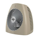 Vornado MVH Vortex Quiet Climate Control Circulation Whole Room Tan Space Heater