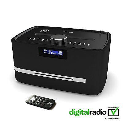 Majority DAB FM Radio CD Player Alarm Clock With Bluetooth Micro HiFi System