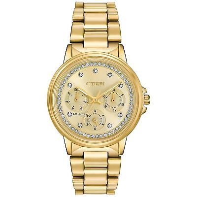 Citizen FD2042-51P Women's Silhouette Crystal  Champagne  Eco-Drive Watch