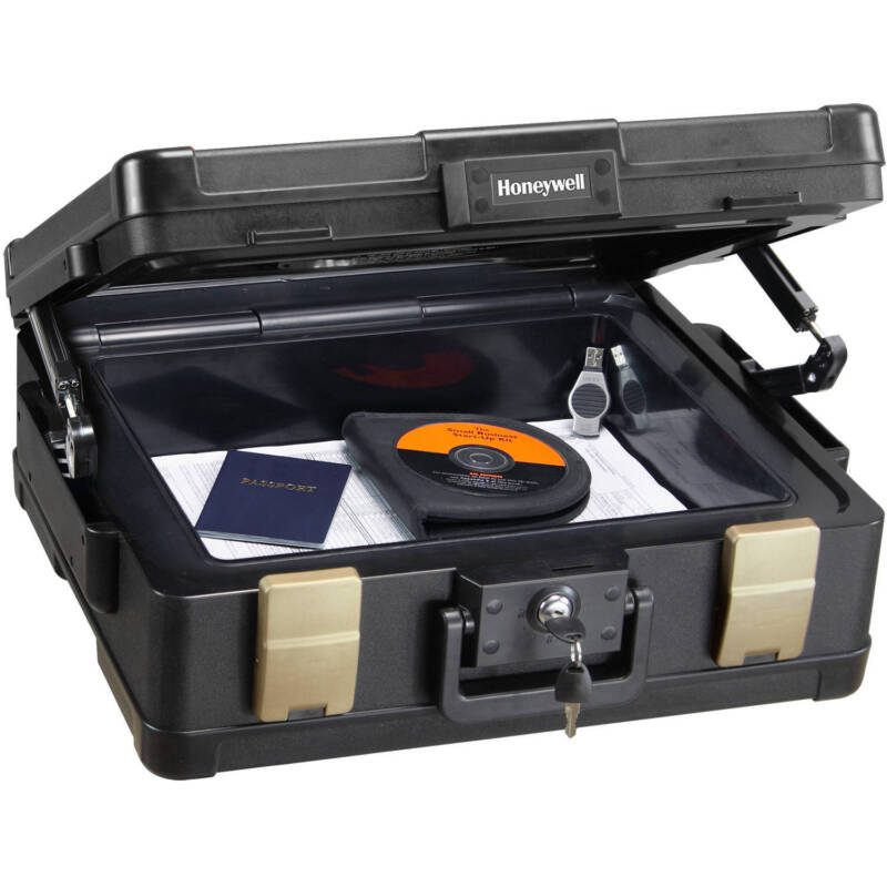 Honeywell 0.38 Cu. Ft. Fire- and Water-Resistant Security  Chest with Key Lock 1104