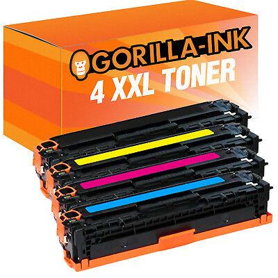Laser Toner Kartuschen Toner Patronen für HP 4er Set CB540A CB541A CB542A CB543A Toner Cb543a