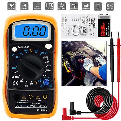 Digital Voltmeter Ammeter Ohmmeter Multimeter Volt Dc Ac Tester Meter Us Seller