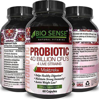 Probiotic Supplement for Better Digestion - 40 Billion CFU's of Good
