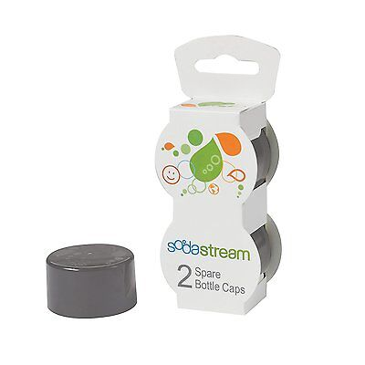 SodaStream Bottle Caps Gray 2-Pack for 1 & 1/2-liter Match cap color with bottle