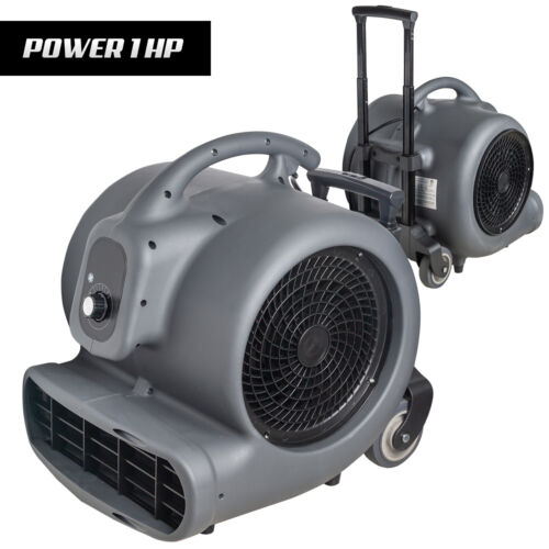 NHT 1HP Utility Floor Fan Air Mover for Garage Workshops, Floor Drying