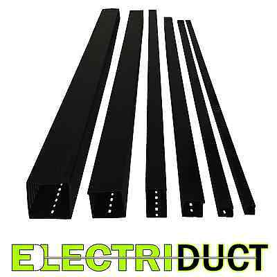 2x2 Open Slot Wire Duct - 6 Sticks - Total Feet 39ft - Black - Electriduct