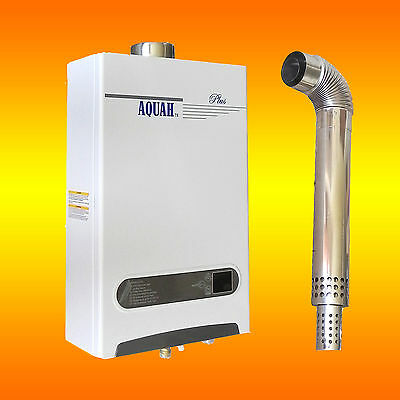 AQUAH PLUS DIRECT VENT PROPANE GAS TANKLESS GAS WATER HEATER 2.7 GPM WHOLE HOUSE