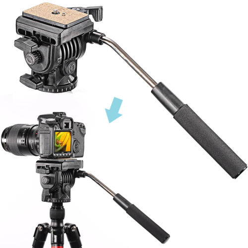 """Neewer 360 Degree Fluid Video Head Camera Head  with 1/4"""" Thread for Camera"""