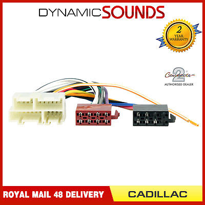 CT20CD02 ISO Wiring Harness Adaptor Lead For Cadillac All Models Upto 2008