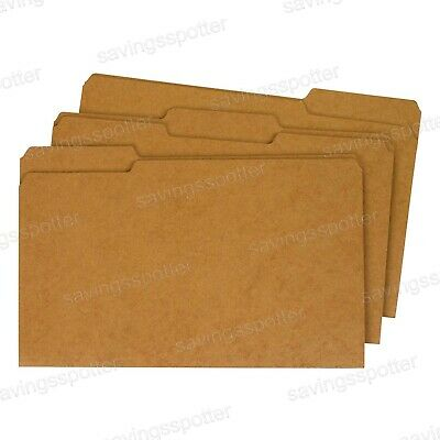 Globe-weis File Folders 13 Cut Reinforced Tab Legal Size Kraft 100 Folders