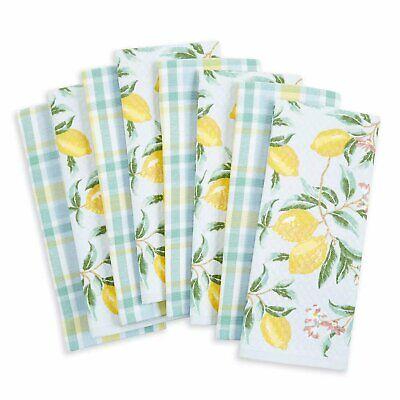 MARTHA STEWART 100% COTTON KITCHEN TOWELS (8 PACK) VARIOUS DESIGNS NEW
