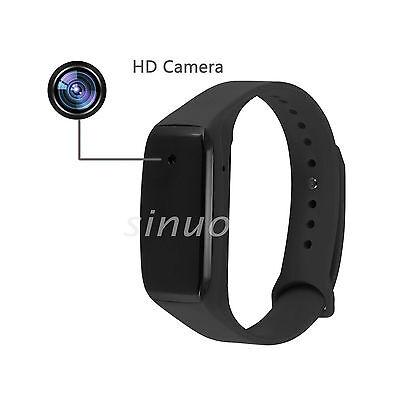 HD 1080P Smart Bracelet Wristband Camera Video Recorder Spy Hidden USB Camera BK