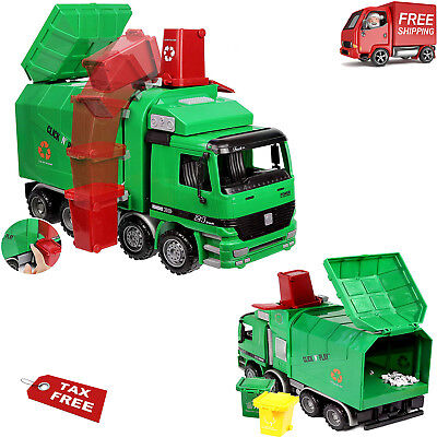 Powered Garbage Truck Toy Recycle Vehicle Trash Can Bin Gift Fun Truck Toy New (Toy Garbage Cans)