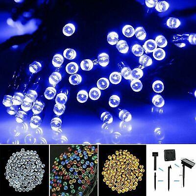 LED Solar Power Fairy Lights String Garden Outdoor Party Wedding Xmas Lighting