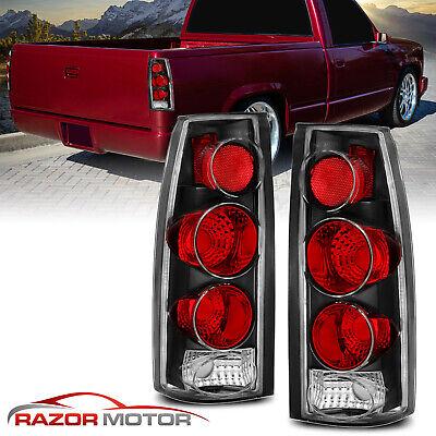 1988-1999 Chevy C/K C10 1500/2500/3500 Blazer Escalade Truck Black Tail Lights