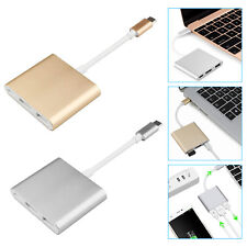 3en1 Type-C Vers 4K HD HDMI USB 3.0 HUB USB-C Charge de Données Adaptateur Câble