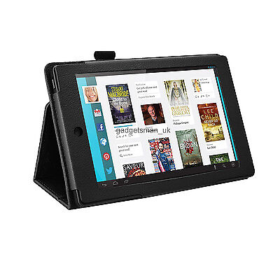 FOR KOBO ARC 7 HD TABLET - STAND CASE FOLDING FOLIO COVER MULTIPLE VIEWING ANGLE (Kobo Arc 7 Hd Cover)