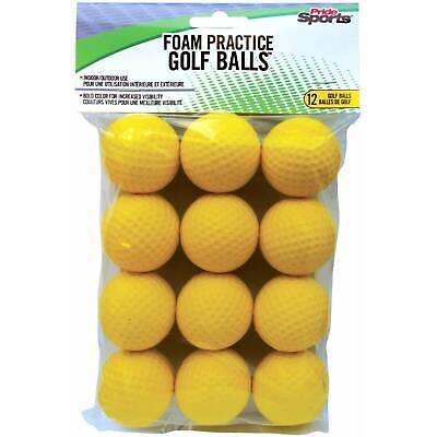12 NEW Pride Sports Foam Practice Golf Balls Train Indoors/Outdoors Ships Free (Sports Balls)