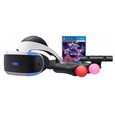 Sony PlayStation VR Worlds Bundle PS4 Virtual Reality Headset PSVR