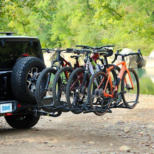 "KAC Overdrive Sports K2 2"" Hitch Mounted Rack 4-Bike Platform"