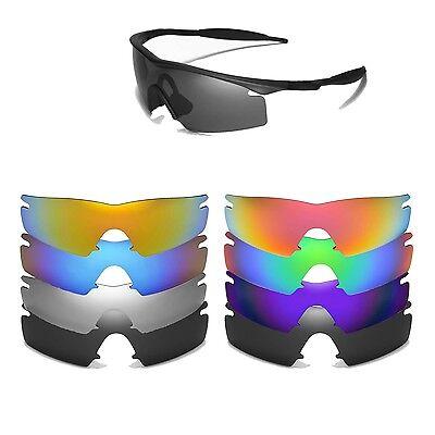 Walleva Replacement Lenses for Oakley M Frame Strike Sunglasses-Multiple Options