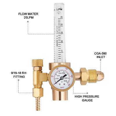 Argon Co2 Welder Gas Regulator Mig Tig Flow Meter Pressure Reducer Flow Gauge