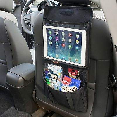 Back Seat Car Organiser with Tablet holder Travel iPad Galaxy Storage Headrest