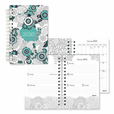 Blueline Doodleplan Weeklymonthly Planner 8 X 5 Botanica 2020 C291001