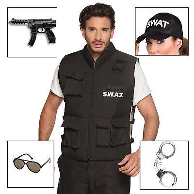 SWAT Kostüm mit Zubehör, SWAT-Weste Karnevalskostüm Brille Pistole - Swat Kostüme Zubehör