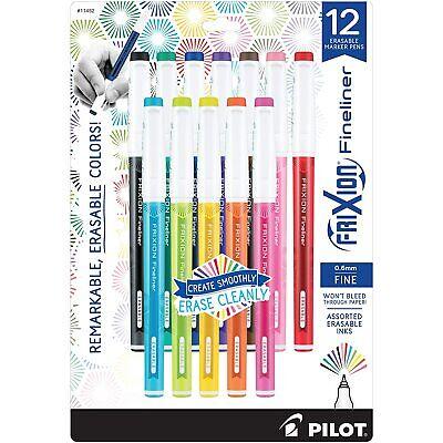 Pilot Frixion Fineliner Erasable Marker Pen Fine Point Assorted Colors Dozen