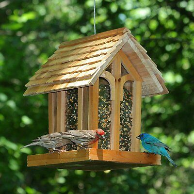 Bird Feeder Squirrel Proof Wild Seed Hanging Garden Outdoor Metal Backyard Patio