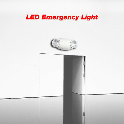 Led Emergency Exit Lighting Fixtures With 2 Led Bug Eye Heads And Batteries