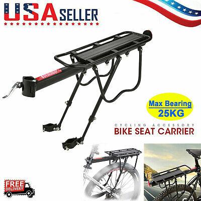 Bicycle Mountain Bike Rear Rack Aluminum Seat Post Mount Pannier Luggage