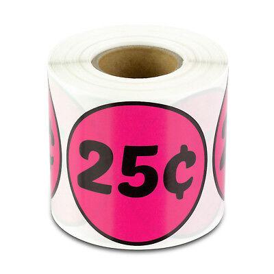 25 Cent Labels Flea Market Garage Sale Yard Price Store Stickers 2 Round 1pk